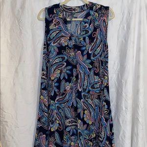Honeyme Paisly Sleeveless Dress